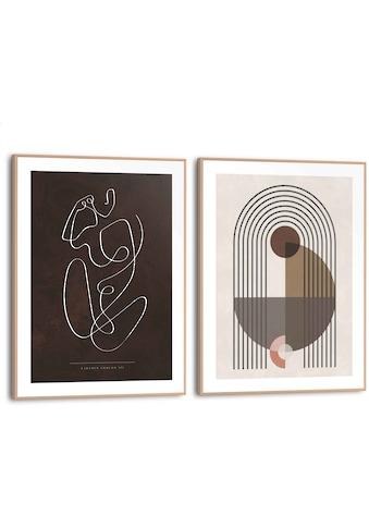 Reinders! Wandbild »Abstrakte Linien Formen - Frau - Linienzeichnung«, (2 St.) kaufen