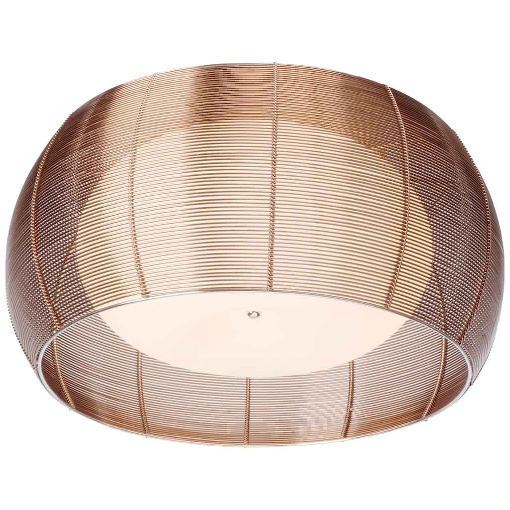 Brilliant Leuchten Relax Deckenleuchte 50cm bronze/chrom