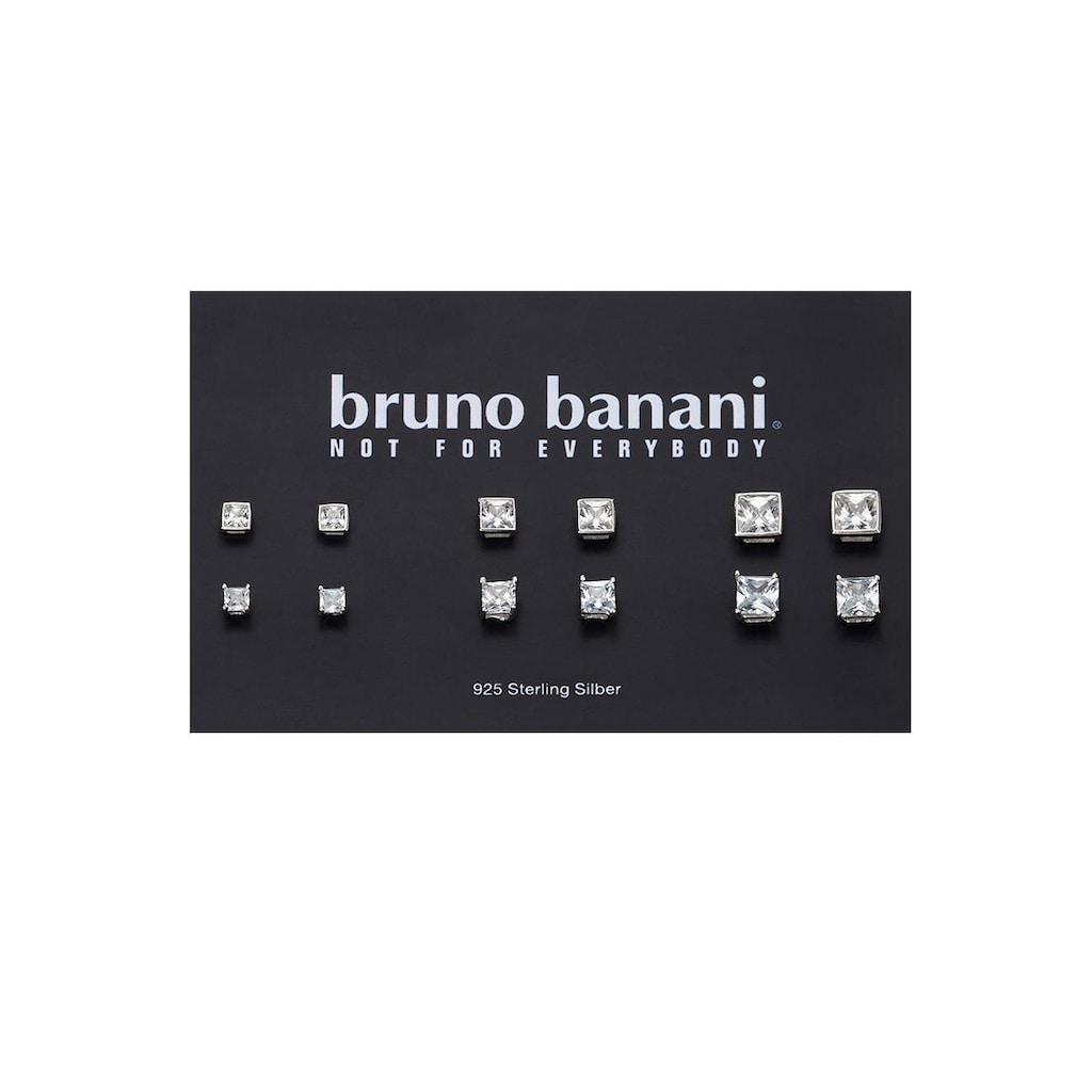 Bruno Banani Ohrstecker-Set »B00 26S/90/03«, (Set, 12 tlg.), mit Zirkonia