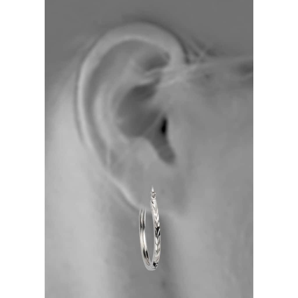 Firetti Paar Creolen »glänzendes Design, diamantiert«