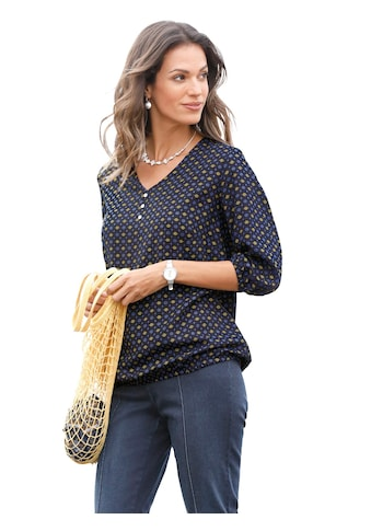 Classic Inspirationen Bluse mit modischem Minimal - Druckmuster kaufen