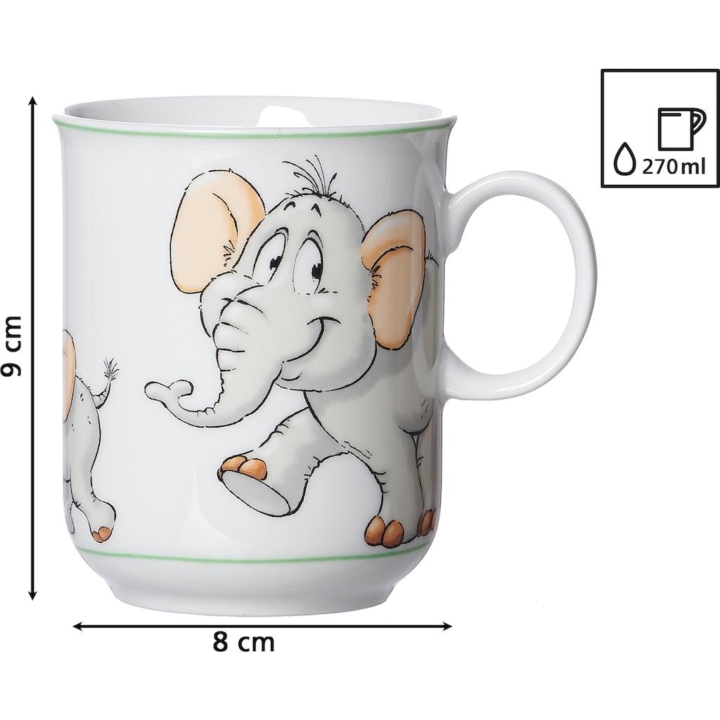 Ritzenhoff & Breker Kindergeschirr-Set »Happy Zoo, Eddie«, (Set, 3 tlg.), mit Elefanten-Dekor