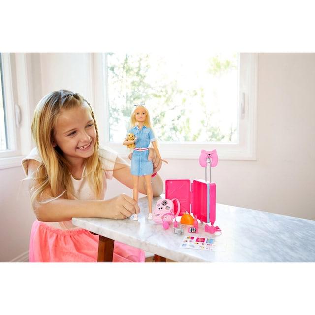 """Mattel® Anziehpuppe """"Barbie Reise Puppe, blond mit Zubehör"""""""