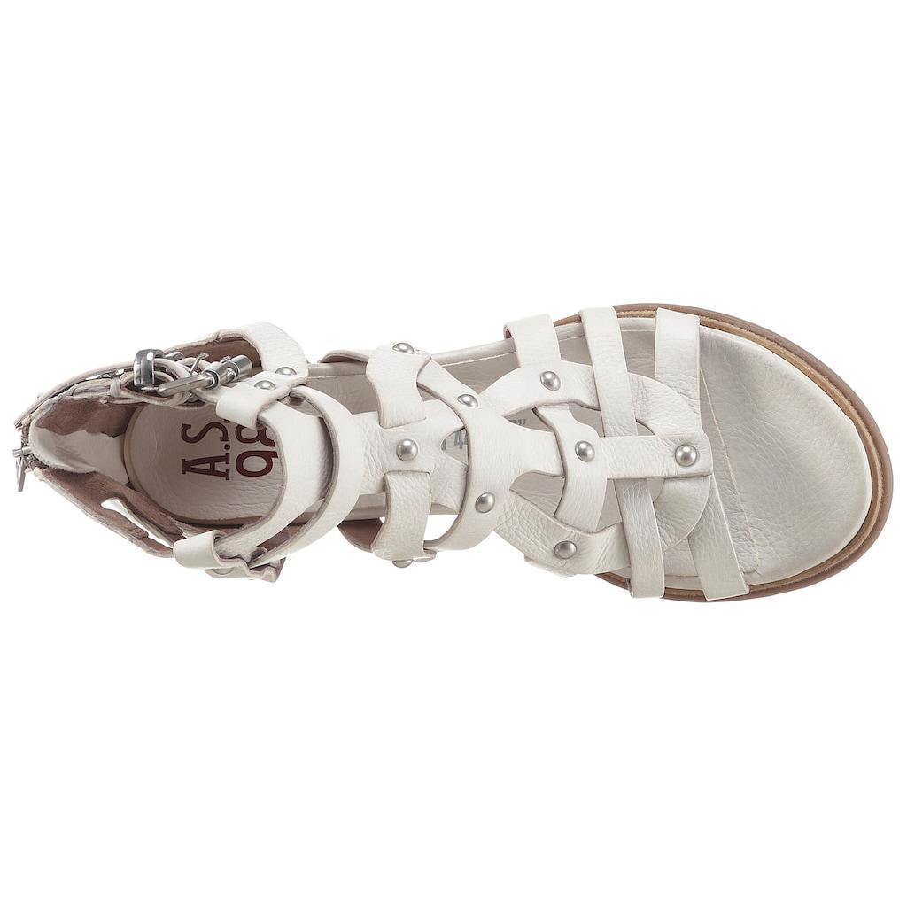 A.S.98 Sandalette »MORAINE«, mit vielen Nieten besetzt