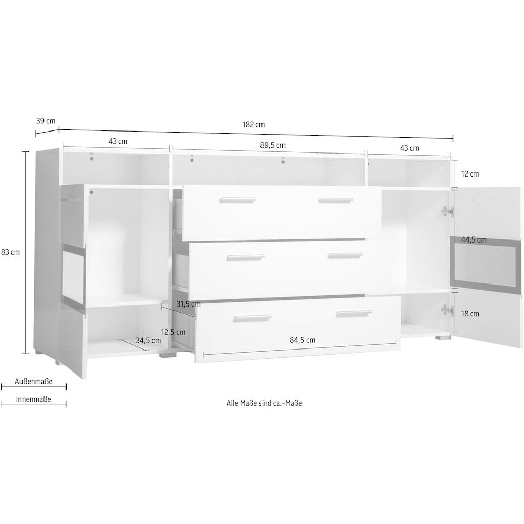 Helvetia Sideboard »Sarah mix«, Breite 182 cm