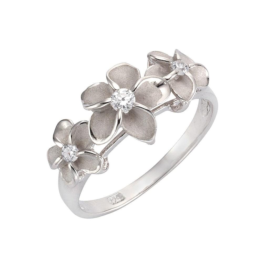 Firetti Silberring »Blume/Blüte«, mit Zirkonia