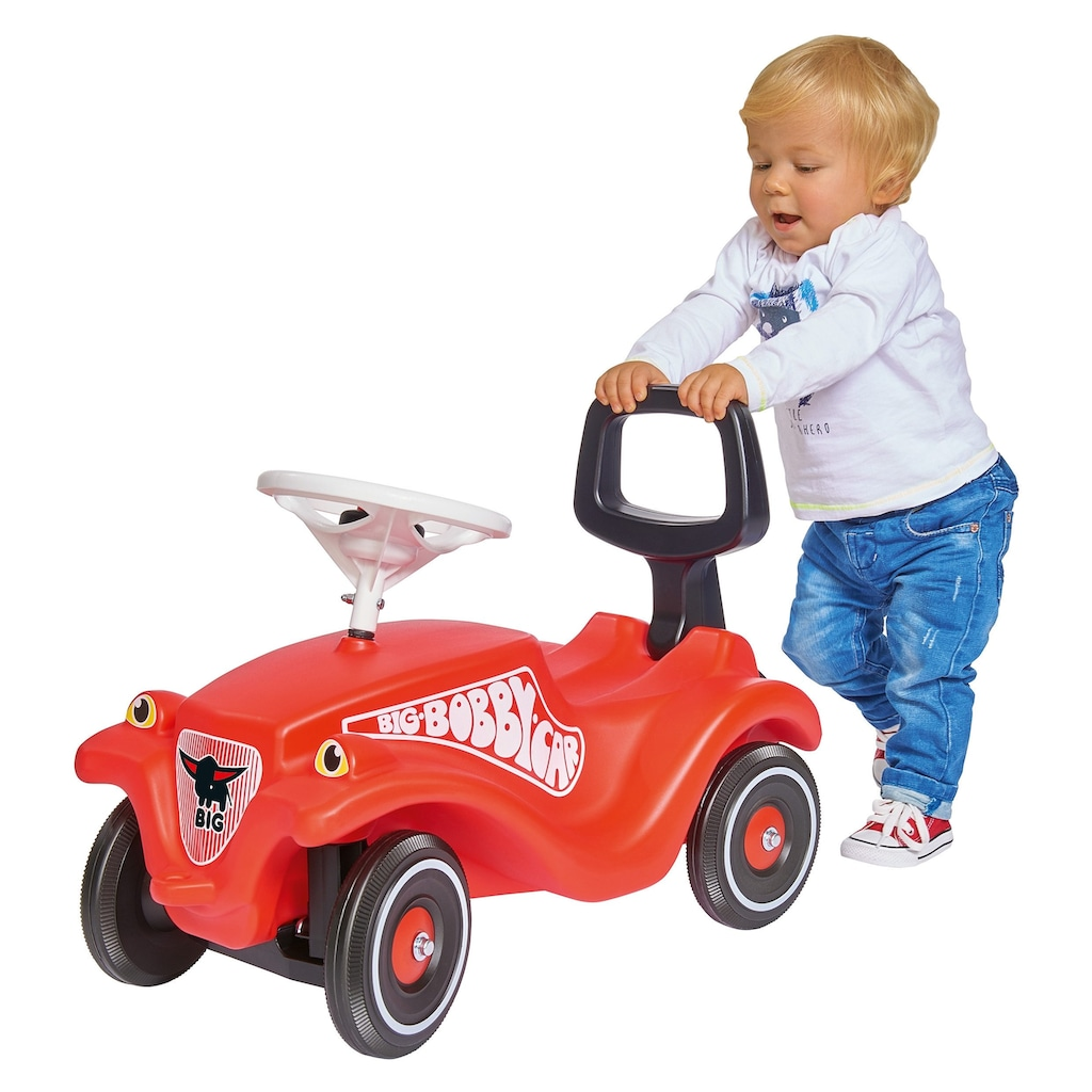 BIG Kinderfahrzeug Lauflernhilfe »BIG Bobby Car Walker 2in1 Zubehör«, 2in1 Rückenlehne und Lauflernhilfe, Made in Germany