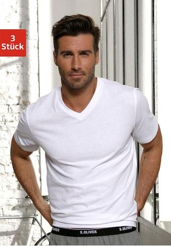 s.Oliver V-Shirt, in uni kaufen
