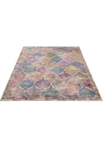 merinos Teppich »Colorful 24021«, rechteckig, 7 mm Höhe, Wohnzimmer kaufen