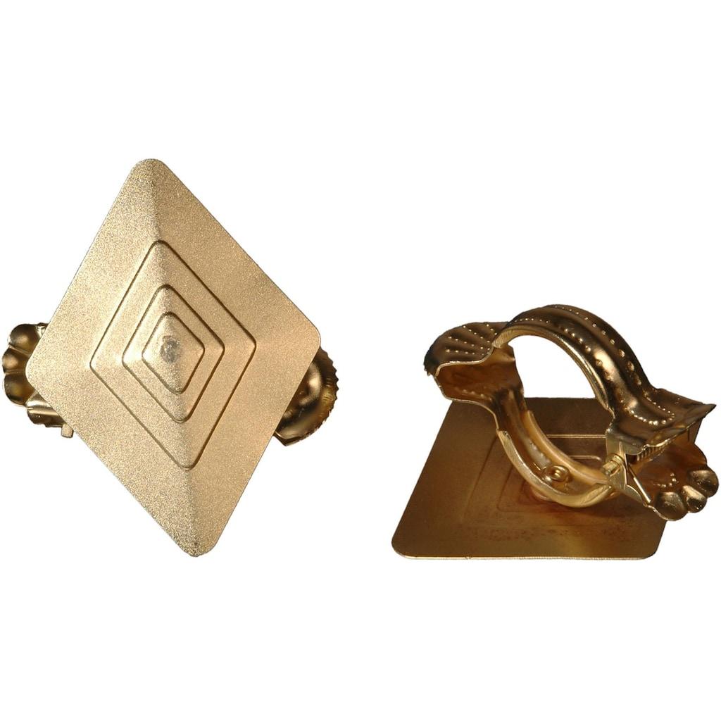 Liedeco Dekoklammer »Rhombus«, (Packung, 2 St.), für Gardinen, Vorhänge
