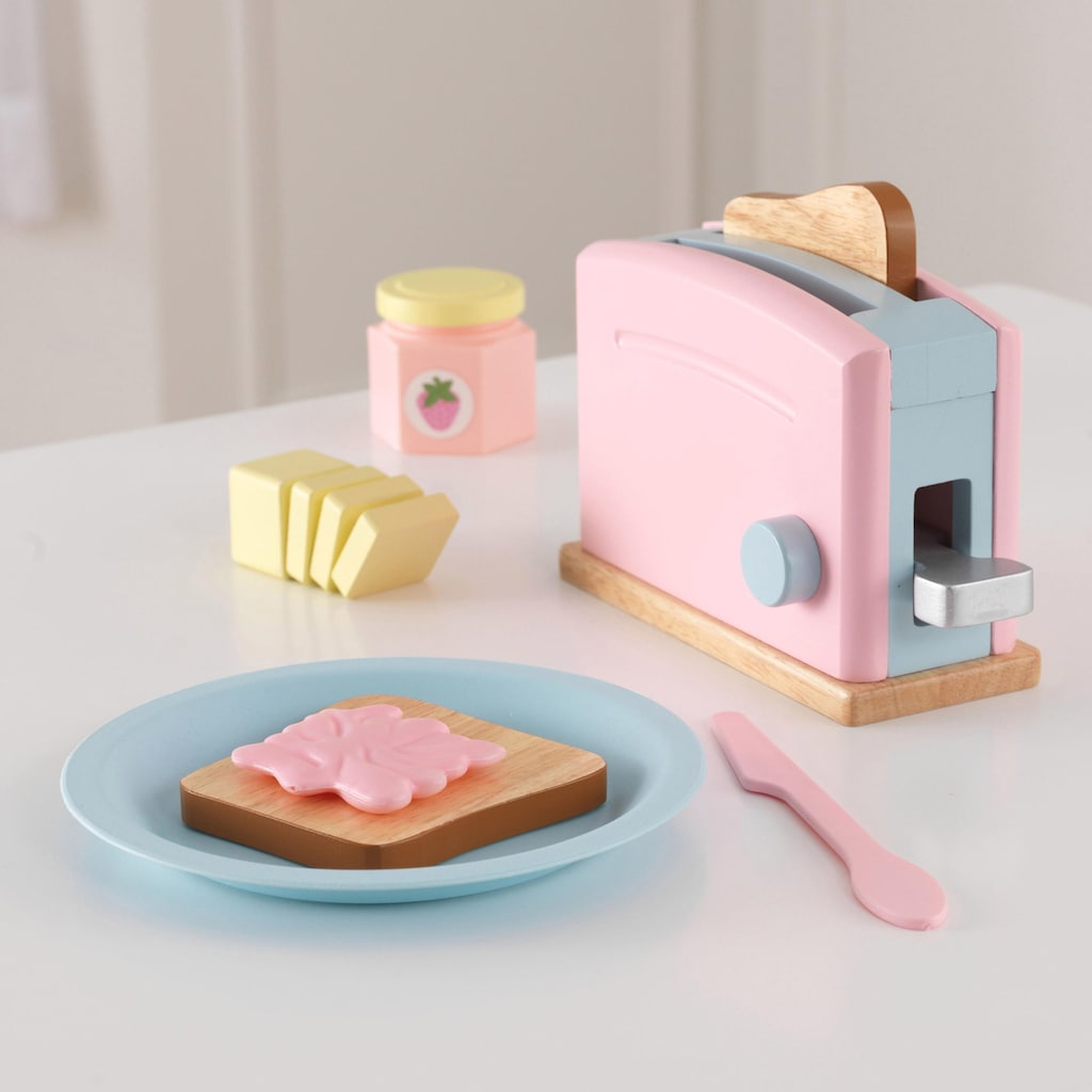 KidKraft® Kinder-Toaster »Toaster-Set (11tlg.)«, (Set, 11 tlg.), mit beweglichen Toastergriff