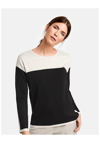 GERRY WEBER Pullover Langarm Rundhals »Pullover im Kontrastlook« kaufen