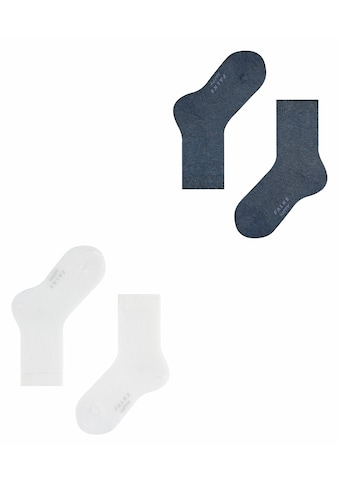 FALKE Socken »Happy 2-Pack«, (2 Paar), mit Kompakt-Baumwolle kaufen