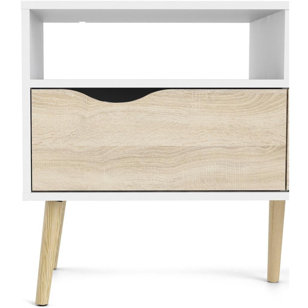 Home affaire TV-Board »OSLO«, mit vielen Stauraummöglichkeiten, grifflos, zweifarbige Front
