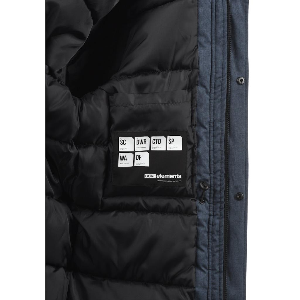 Jack & Jones Parka »Wind«, warme Jacke mit abnehmbarem Kunstfellkragen