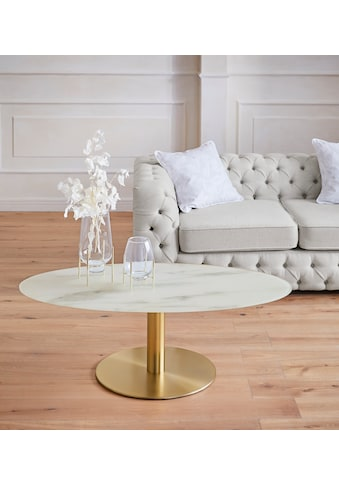 Guido Maria Kretschmer Home&Living Couchtisch »Shinely«, 0,8 cm starke Tischplatte in Marmoroptik kaufen