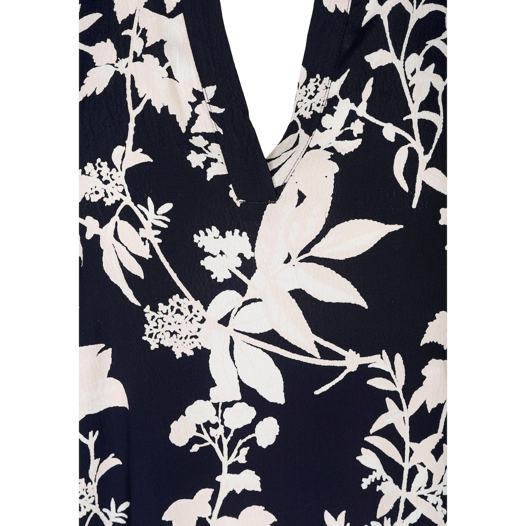 Zizzi Klassische Bluse, mit V-Ausschnitt