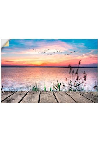 Artland Wandbild »Der See in den Farben der Wolken«, Gewässer, (1 St.), in vielen... kaufen