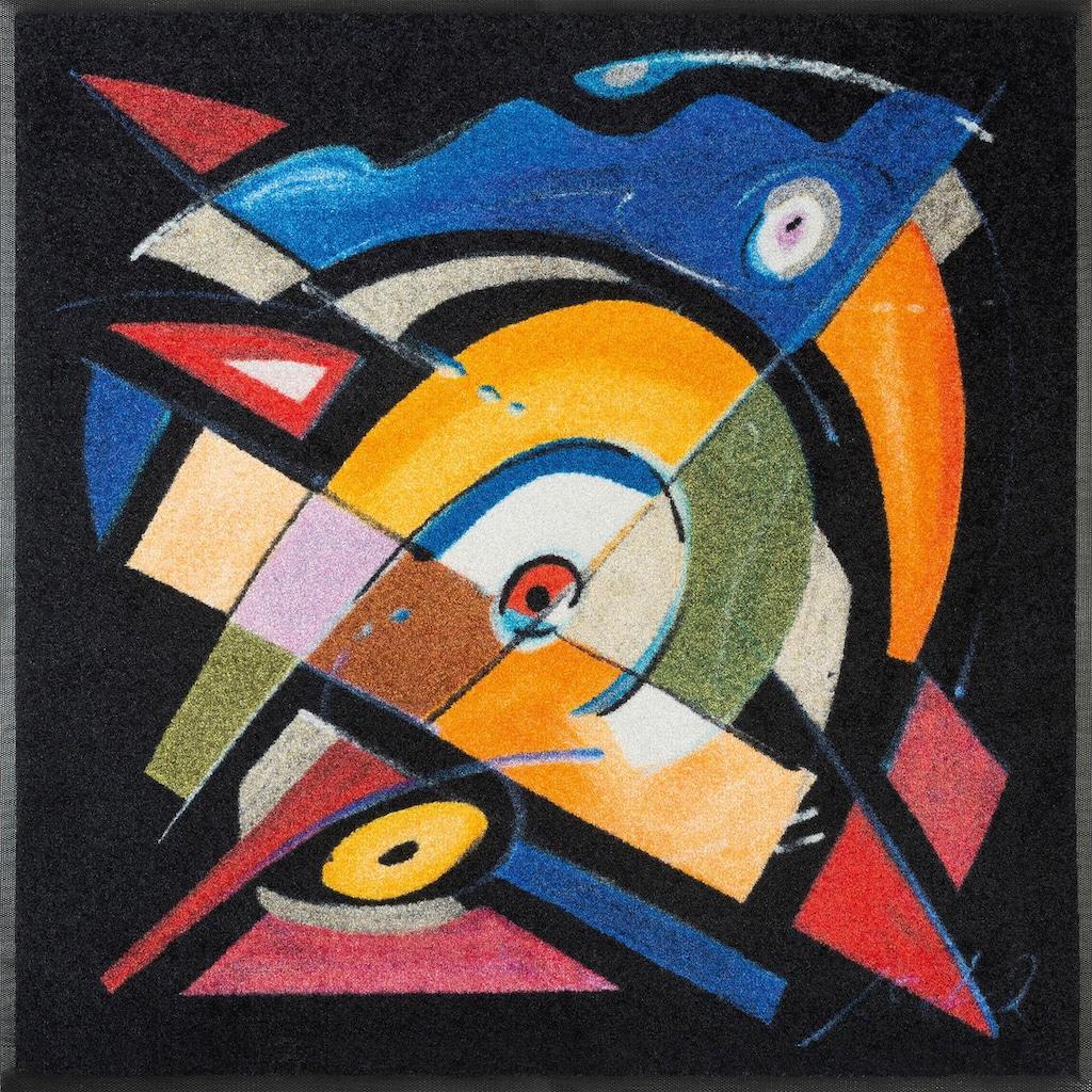 wash+dry by Kleen-Tex Teppich »balanced rhythm I«, quadratisch, 7 mm Höhe, Wohnzimmer