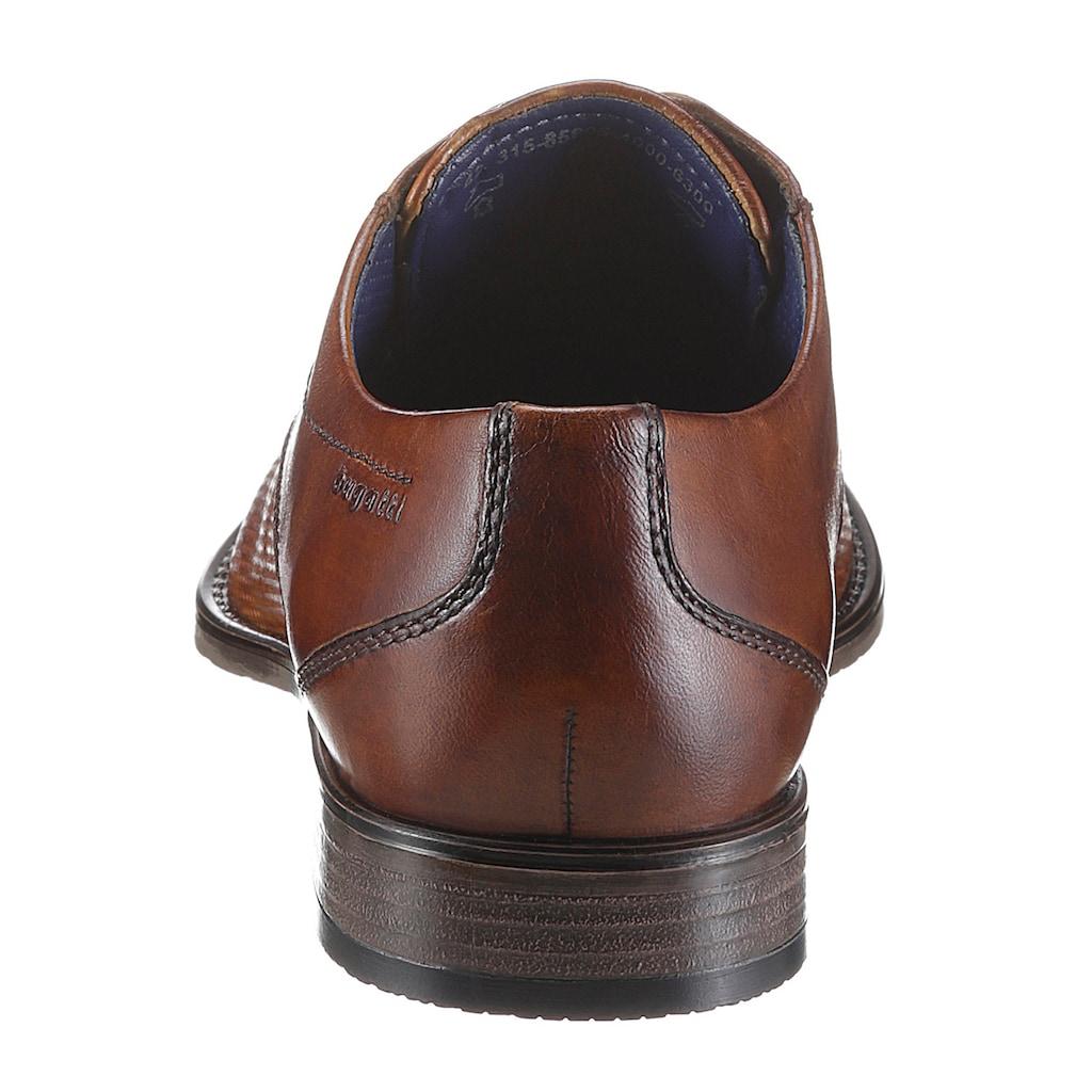bugatti Schnürschuh »Rinaldo Eco«, mit modischer Perforierung