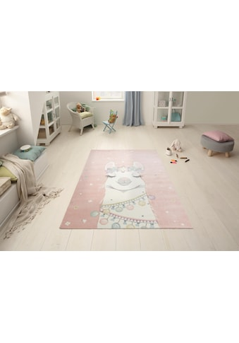 Kinderteppich, »Lama«, Lüttenhütt, rechteckig, Höhe 13 mm, maschinell gewebt kaufen