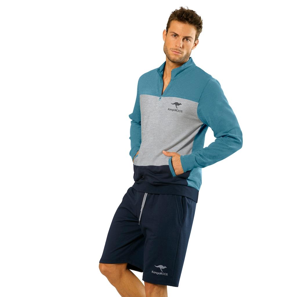 KangaROOS Sweatshirt, mit Stehkragen mit kurzen Reißverschluss