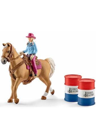 """Schleich® Spielfigur """"Farm World, Barrel racing mit Cowgirl (41417)"""", (Set) kaufen"""