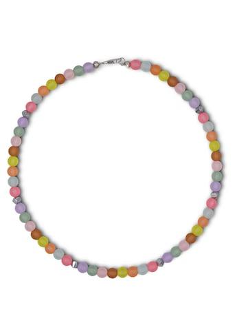 J.Jayz Collier »Regenbogen-Pastellfarben, transparent, matt,«, mit Hämatitwürfel und... kaufen