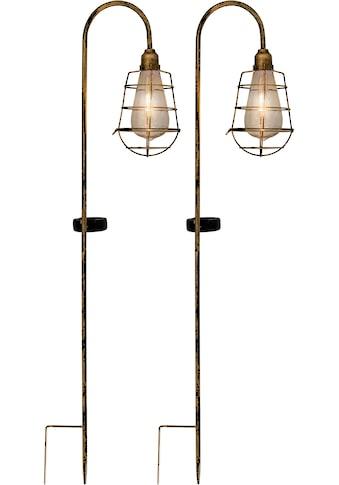 näve LED Gartenleuchte »LED Deko - Solar - Erdspieß«, LED-Modul, 2 St., Warmweiß, 2er Set kaufen