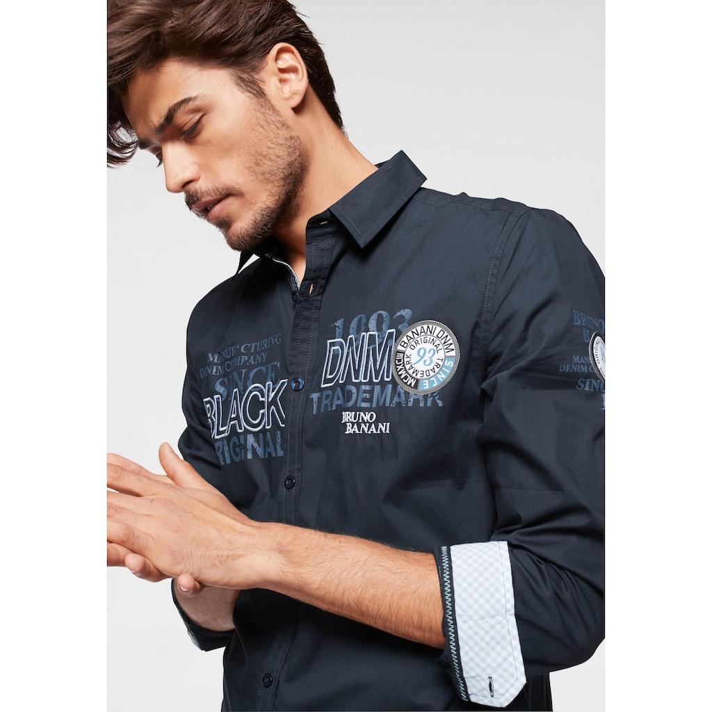 Bruno Banani Langarmhemd, mit aufwändigen Stickereien