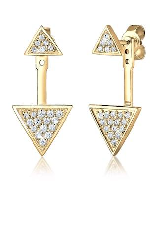 Elli Paar Ohrhänger »Ear Jacket Geo Swarovski® Kristalle Silber« kaufen