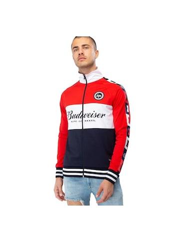 Hype Trainingsjacke »Budweiser Herren Farbblock Quarter Zip Jacke« kaufen
