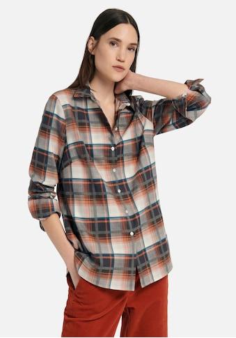 DAY.LIKE Langarmbluse »im Flanell-Stil«, mit Hemdkragen kaufen