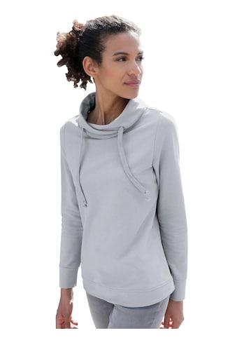 Casual Looks Sweatshirt mit asymmetrischem Kragen kaufen