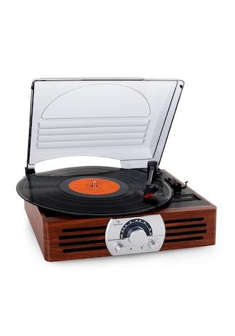 Auna Design Plattenspieler Radio UKW/MW Lautsprecher Holzgehäuse »TT 83N« kaufen