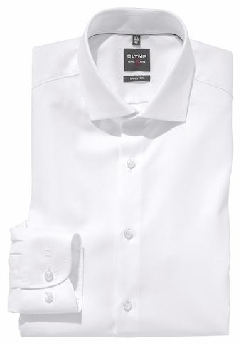 OLYMP Businesshemd »Level Five body fit«, gewebtes Muster, edler Glanz kaufen