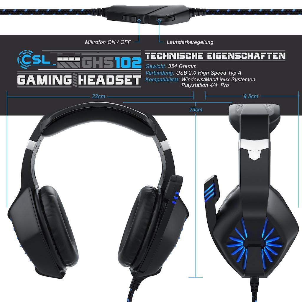 """CSL Gaming Headset """"GHS-102"""" mit Mikrofon"""