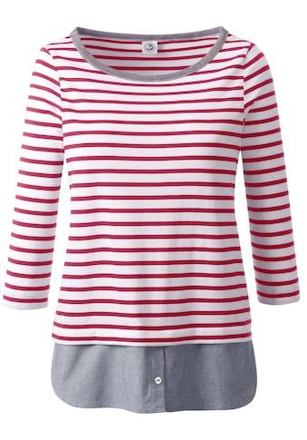 Casual Looks Shirt in 2 - in - 1 - Optik kaufen