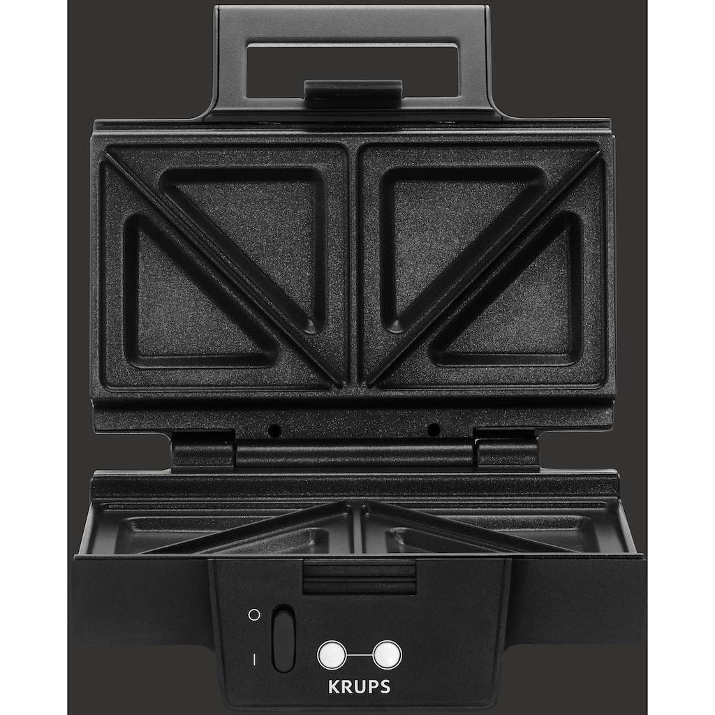 Krups Sandwichmaker »FDK451«, 850 W, Antihaftbeschichtete Platten