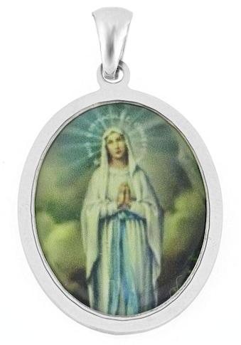 Firetti Kettenanhänger »Heilige Maria, glänzend, rhodiniert, ovale Form« kaufen
