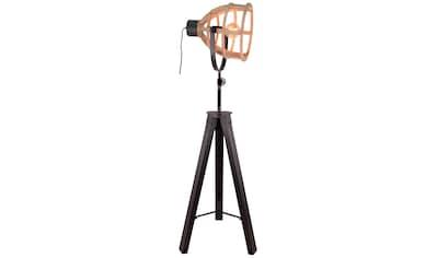 Brilliant Leuchten Matrix Wood Standleuchte dreibeinig antik holz/schwarz korund kaufen