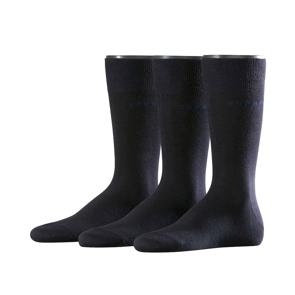 Esprit Socken »Solid 3-Pack«, (3 Paar), aus hautfreundlicher Baumwolle