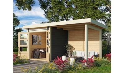 KONIFERA Gartenhaus »Ammersee 1«, mit Anbaudach kaufen