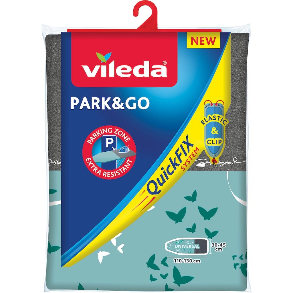 Vileda Bügelbrettbezug »Park & Go QuickFIX«, metallisierte Kurzzeit-Parkzone für Bügeleisen, 110x30 cm