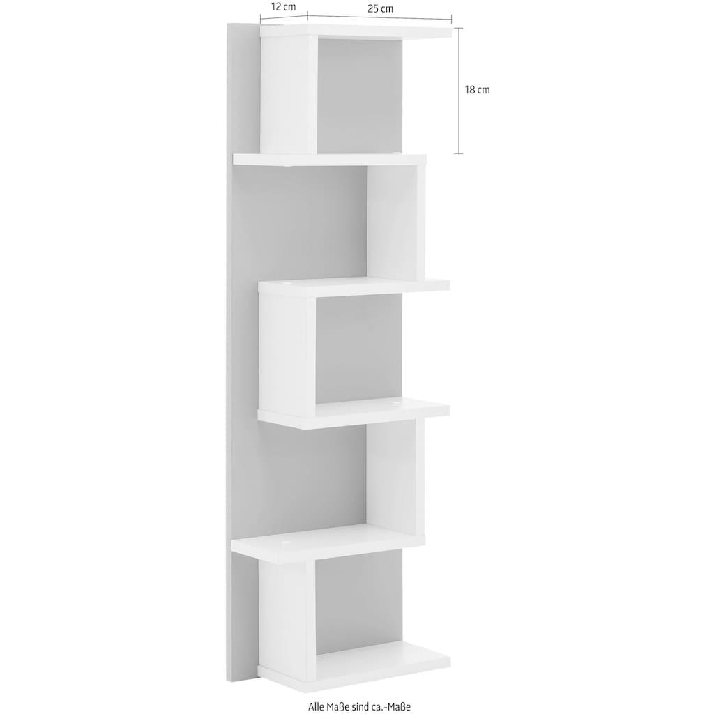 Schildmeyer Wandregal »Lumo«, Breite 30,3 cm, mit 5 Ablageflächen