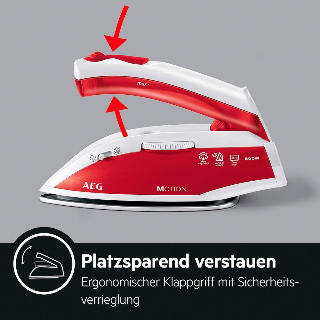 AEG Reise-Dampfbügeleisen »DBT 800«, 800 W, kratzfeste Edelstahl-Bügelsohle