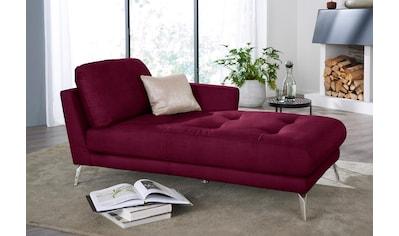W.SCHILLIG Chaiselongue »softy«, mit dekorativer Heftung im Sitz, Füße Chrom glänzend kaufen