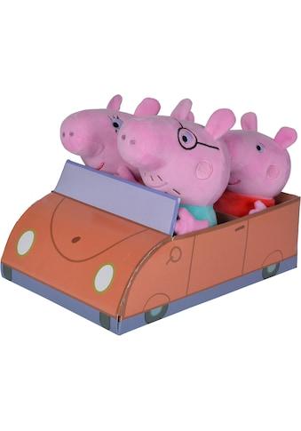 SIMBA Kuscheltier »Peppa Pig, Familie im Auto« kaufen