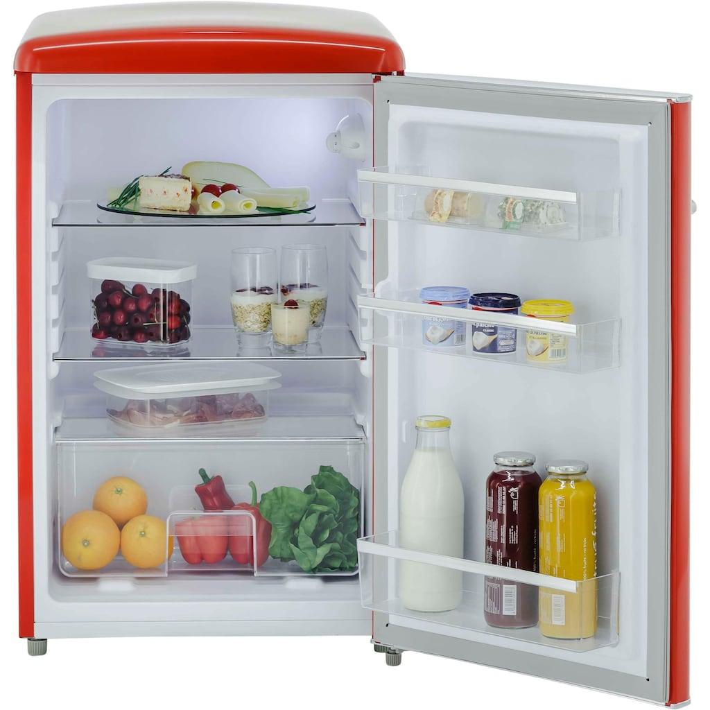 exquisit Vollraumkühlschrank »RKS 120-16 RV A++«, Retro