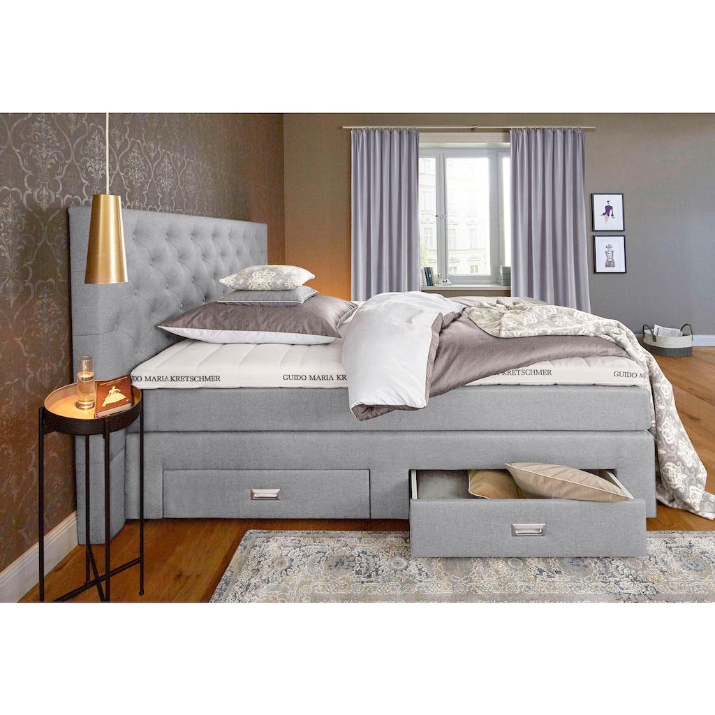 Guido Maria Kretschmer Home&Living Boxspringbett »Aivi«, mit Schubkästen